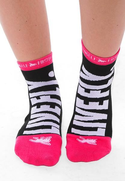 LIVE FLY. COMFORT ANKLE SOCKS: BLACK/WHITE (Sets of 2)