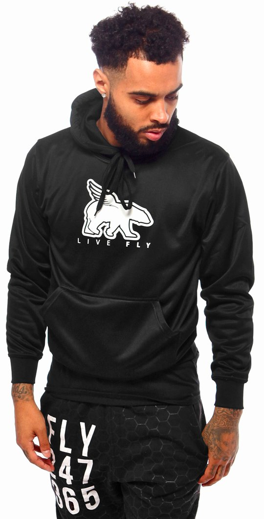 LIVE FLY Sports Hoodie: Black