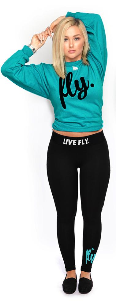 ***LIMITED RELEASE*** Live Fly Legging & Crew Outfit: Classic Teal