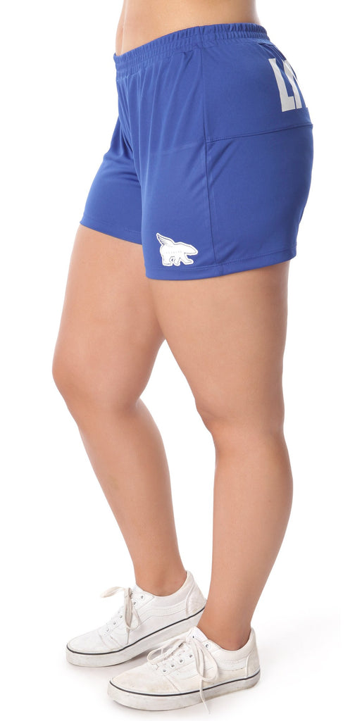 LIVE FLY Collegiate Shorts: Blue