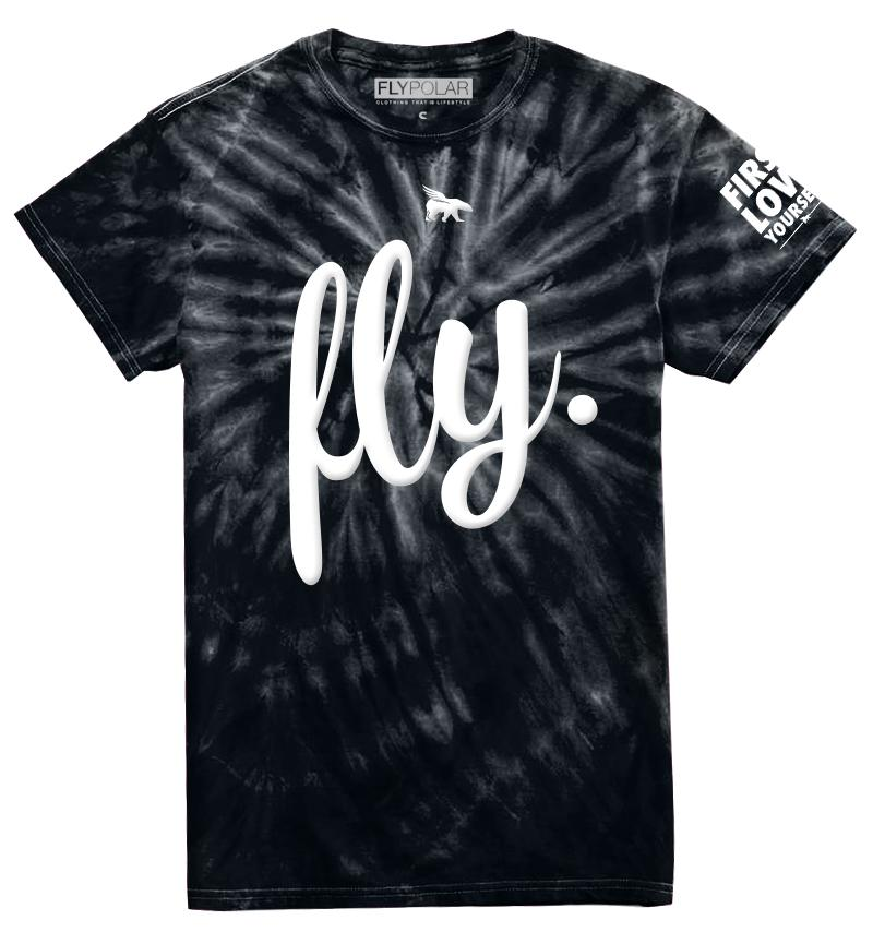 LOVE YOURSELF Tie Dye Tee: Black