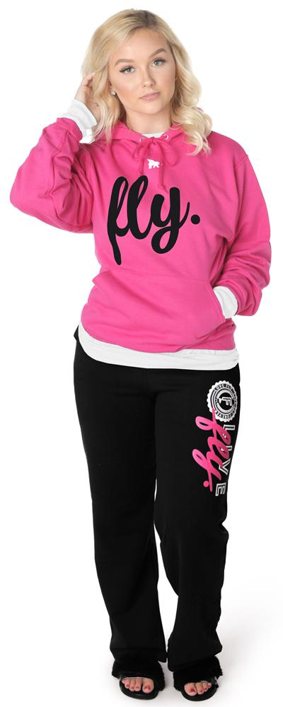 Collegiate Live Fly Comfort Outfit: Pink/Black