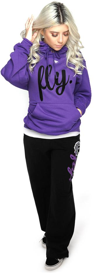 Collegiate Live Fly Comfort Outfit: Purple/Black