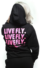 LIVE FLY. LOUNGING LONG SLEEVE ZIP-UP HOODIE