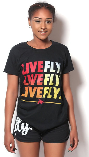 LIVE FLY. t-shirt