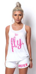 LIVE FLY. Lounging Set: Pink Glitter