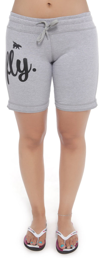 FLY. ALL DAY Lounging Shorts: Grey