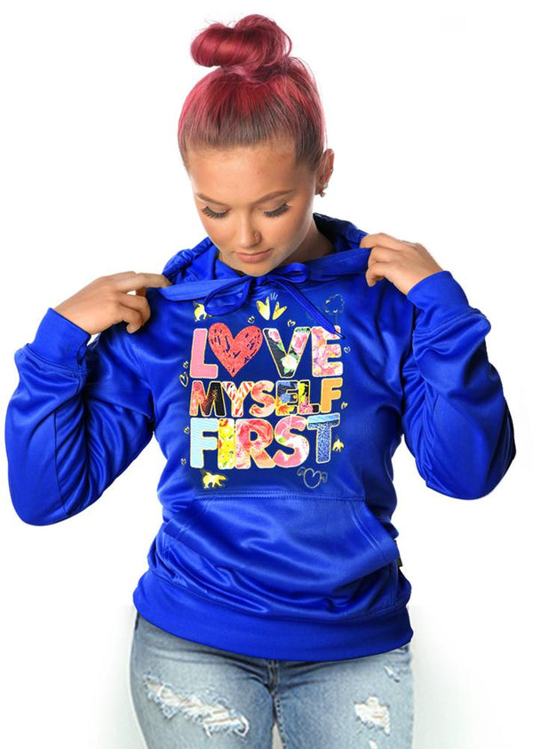 *LIMITED* LOVE MYSELF FIRST Lifestyle Hoodie: Ruby Blue