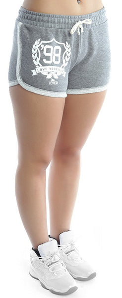 LOVE YOURSELF Lounging Shorts: GREY