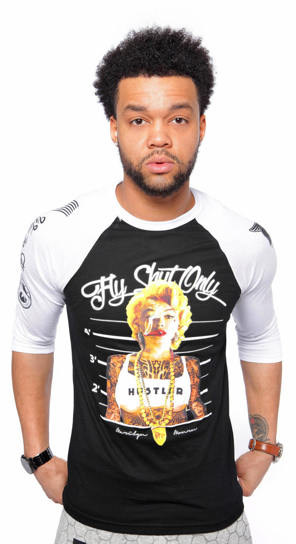 Fly Shyt Only Black/White Raglan