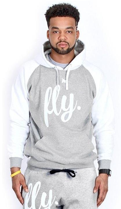 FLY 2-TONE HOODIE - Grey/White