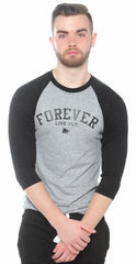 FOREVER LIVE FLY. Raglan: Black/Grey