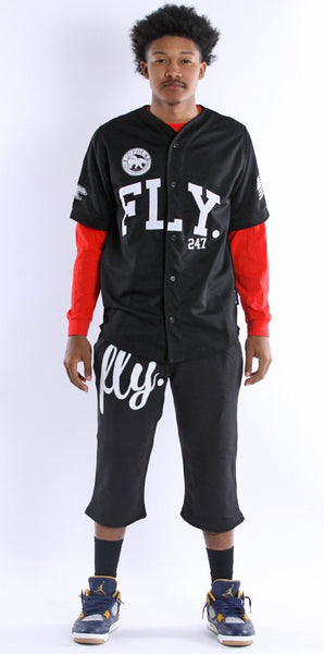 FLY 24/7 365 JERSEY - Black w/ White Lettering