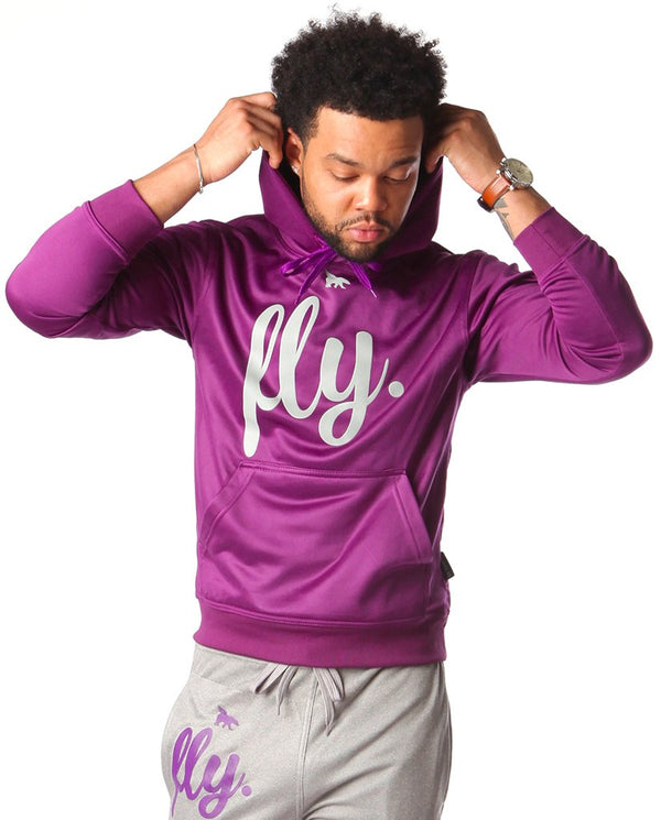 Mens Lifestyle Comfort Hoodie: Berry Purple
