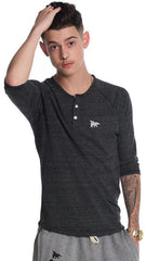 Mens Lounging Raglan: Charcoal