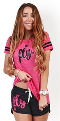 My FAVORITE Sports OUTFIT: Pink/Black