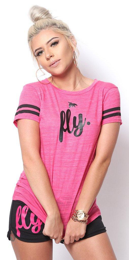 My FAVORITE Sports Tee: Pink/Black