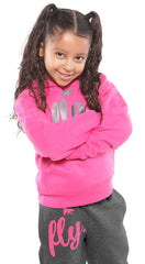 FLY. KIDS Comfort Outfit: Pink/Dark Grey