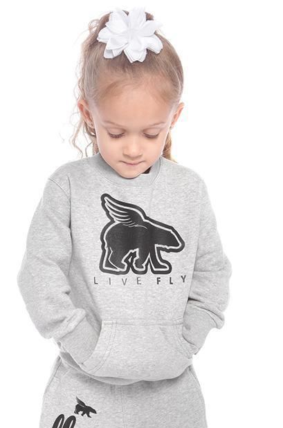 TODDLER POCKETED Crewneck: Grey