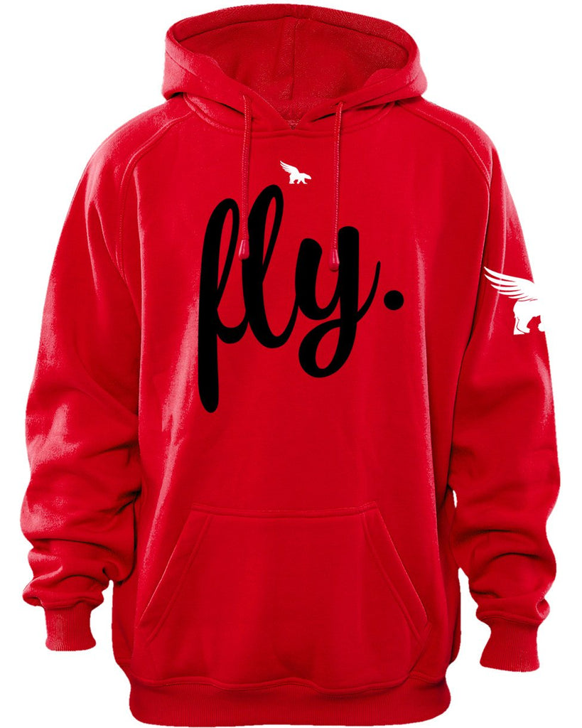 FLY Classic 1-Day Sale Hoodie: FLY. (red)