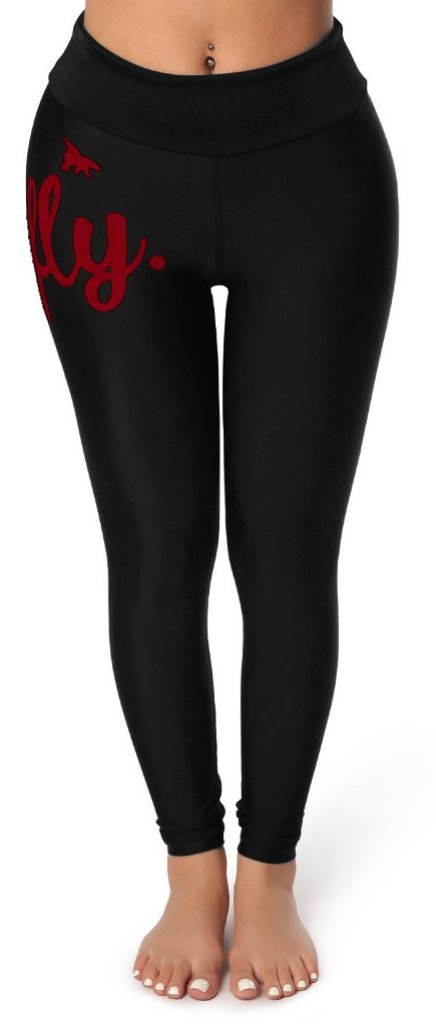 Signature High Waist Leggings: Hot Maroon Logo