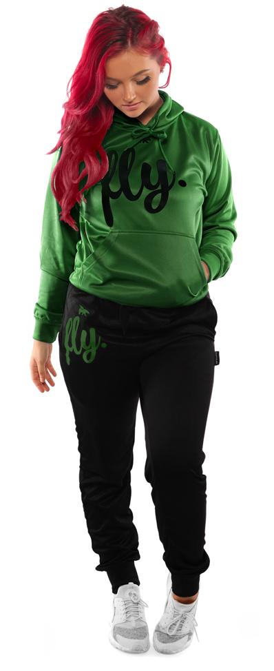 Lifestyle Comfort Hoodie OUTFIT: Military Green/Black
