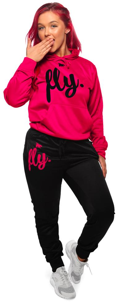 Lifestyle Comfort Hoodie OUTFIT: Very Pink/Black