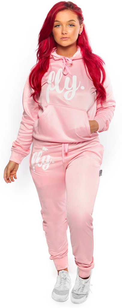 Lifestyle Comfort Hoodie OUTFIT: Cotton Candy/White Print