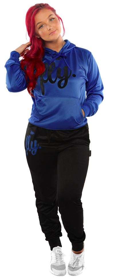 Lifestyle Comfort Hoodie OUTFIT: Ruby Blue/Black