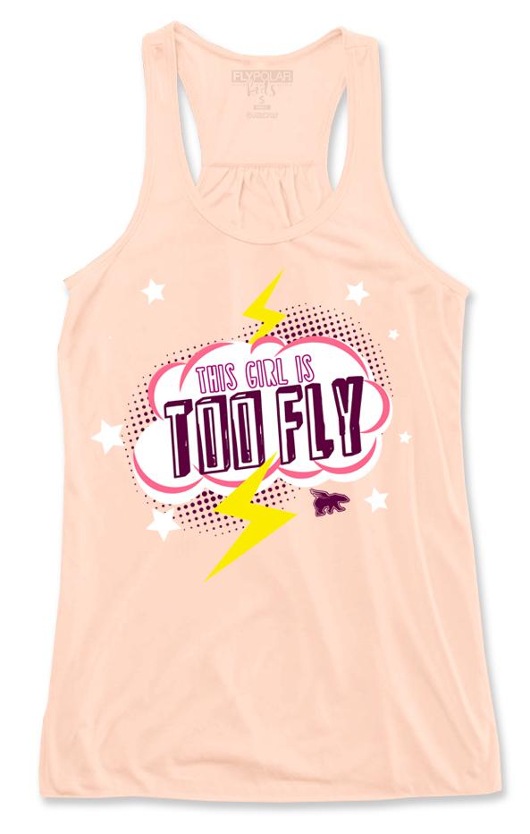This Girl is Too Fly Tank: Peach