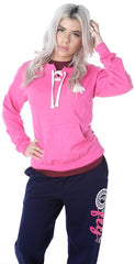 Varsity Pocketed Lace-Up: Pink