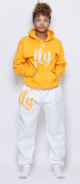 FLY. Comfort Sweats: Gold/White (UNISEX FIT)