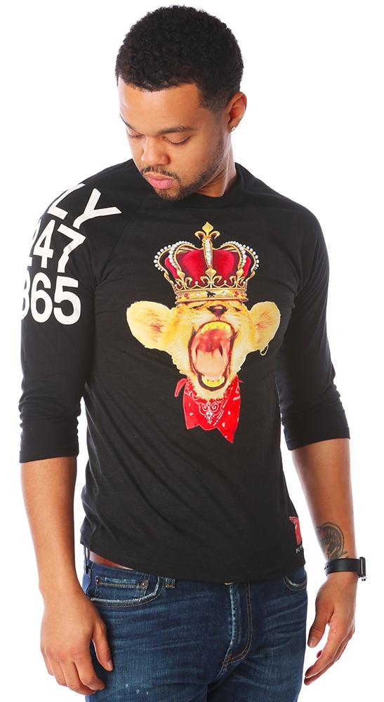 Young Simba Raglan: Black