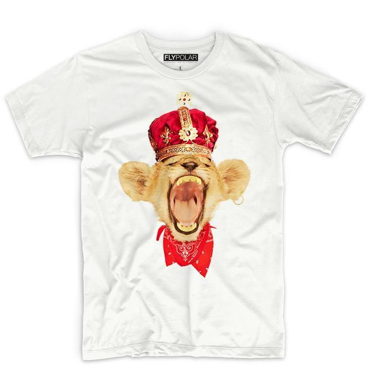 Young Simba Graphic Tee: White