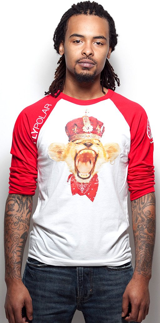 Young Simba Red/White Raglan