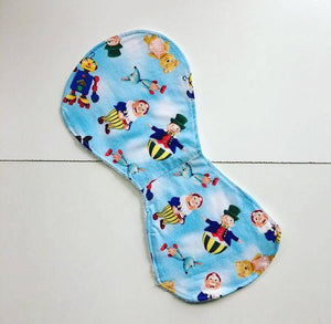 Hourglass Circus Burp Cloth