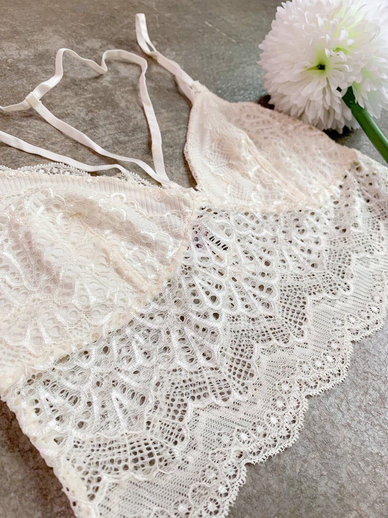 The Lace Butter Yellow Bralette
