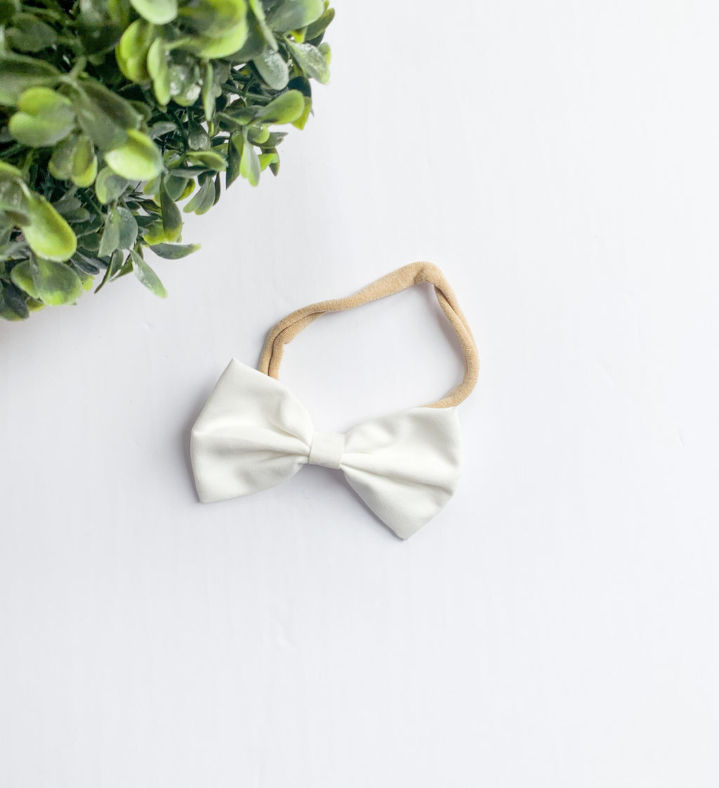 The Emily Headband: Cream