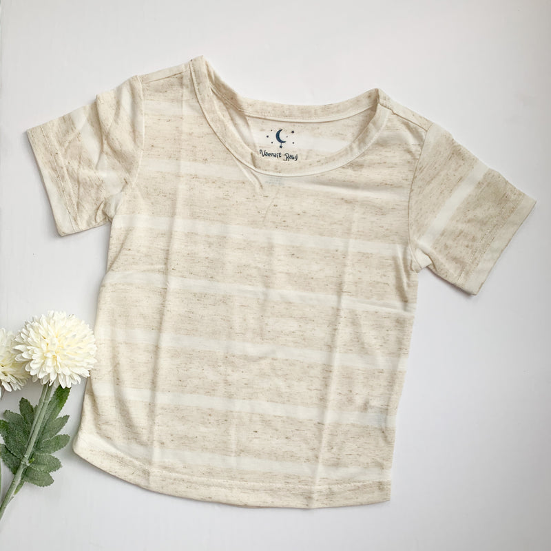 The Bronwyn Basic Tee: Cream Stripe