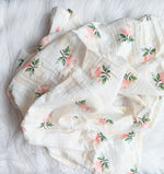 The Floral Muslin Swaddle Blanket
