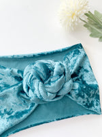The Sophie Velvet Headband: Ocean