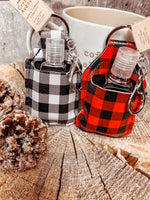 Plaid Sanitizer Keychain