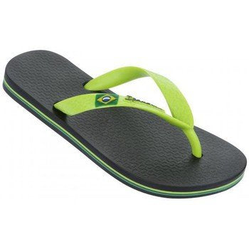 Classic Black & Green Flip Flop: Youth 7