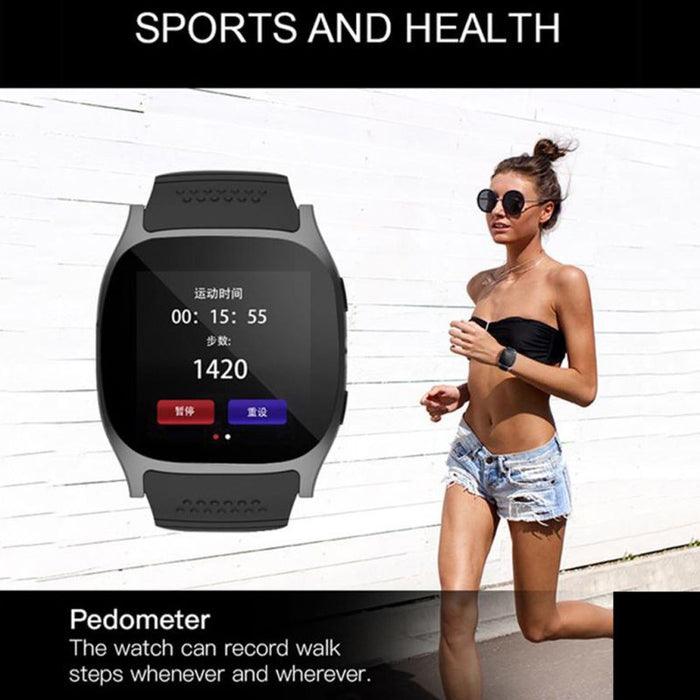 bluetooth smart watch with camera support sim tf card pedometer men women call sport smartwatch for android phone