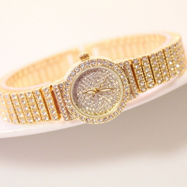 BS Women Watch Famous Luxury Brands Diamond Ladies Wrist Watches Female Small Wristwatch Rose Gold Watch Women Montre Femme 2019