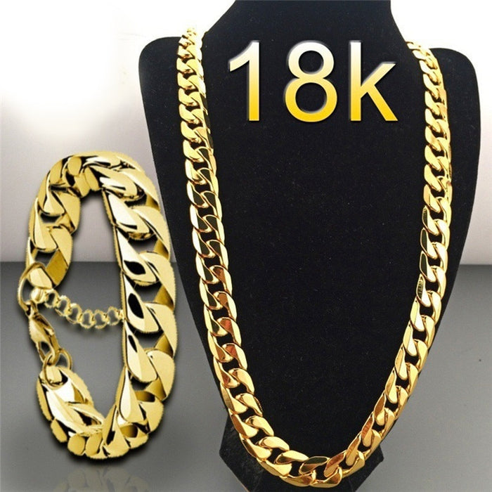 Punk Cuban Chain Gold Necklace Men 45/50/55/60/65/70/75CM Link Curb Chain Long Necklace for Women Fashion Jewelry erkek kolye 4