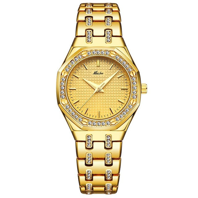 MISSFOX Women Watches Women Fashion Watch 2019 Luxury Brand Ladies Watch Waterproof Gold Quartz Ap Watch Xfcs Female Clock Hours