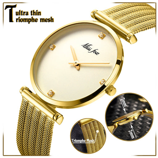 Top Selling Product Stainless Steel Bracelet Gold Diamond Gifts For Women Minimalist Designer Brand Luxury Women Watches