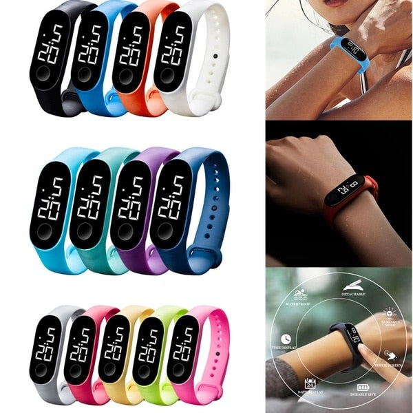 Fashion Women Men Sport Watch Waterproof LED Luminous  Electronic Sensor Watches Casual Bracelet Wrist Watch Thanksgiving Gift