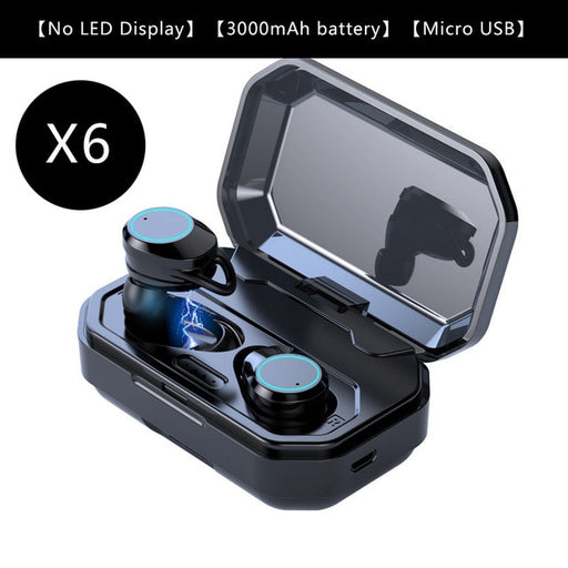 TWS G02 Bluetooth Earphones V5.0 Wireless Headphones 9D Stereo Music IPX7 Waterproof Earbuds with 3300mAh Long Battery Life